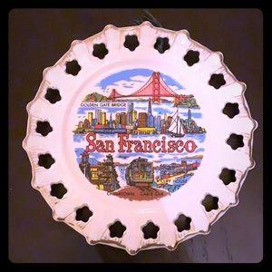 Vintage ceramic SAN FRAN wall hanging